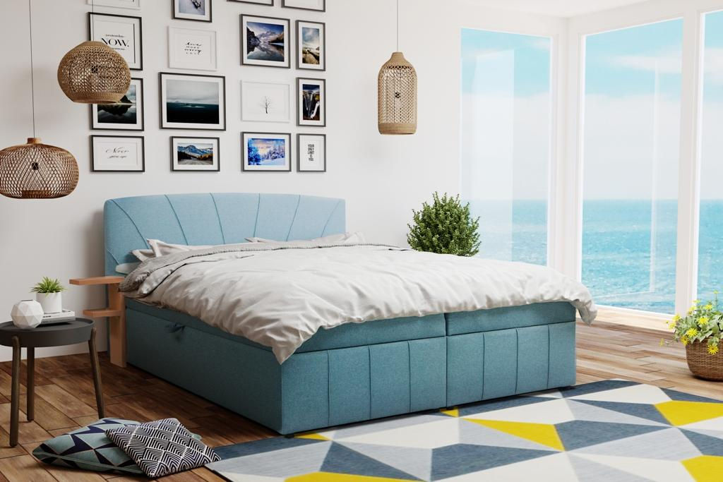 AURORA 160x200 boxspring postel s úložným prostorem