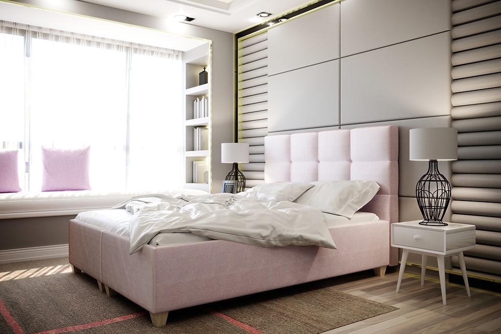 HILARY 160x200 cm čalúnená posteľ s úložným priestorom