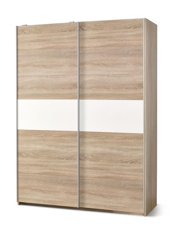 RIVER S-1 šatníková skriňa s posuvnými dverami v dekore dub sonoma