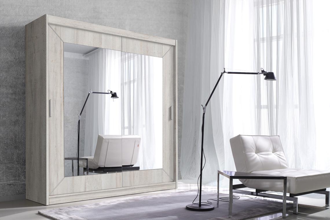ALDO zrkadlová šatníková skriňa s posuvnými dverami | 6 dekorov