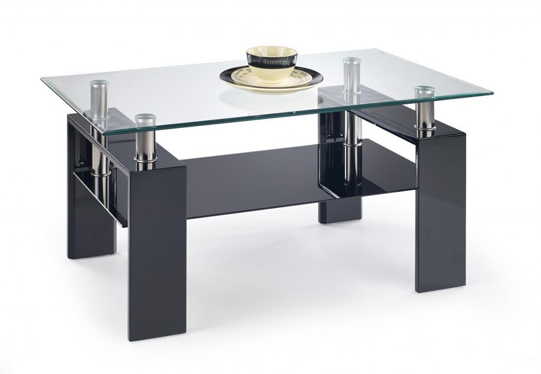 DIANA H obdélníkový konferenční stolek se skleněnou deskou