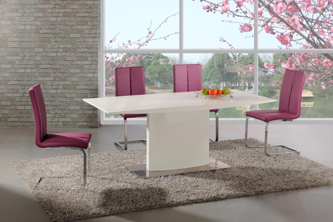 ELIAS bílý jídelní stůl na jedné noze