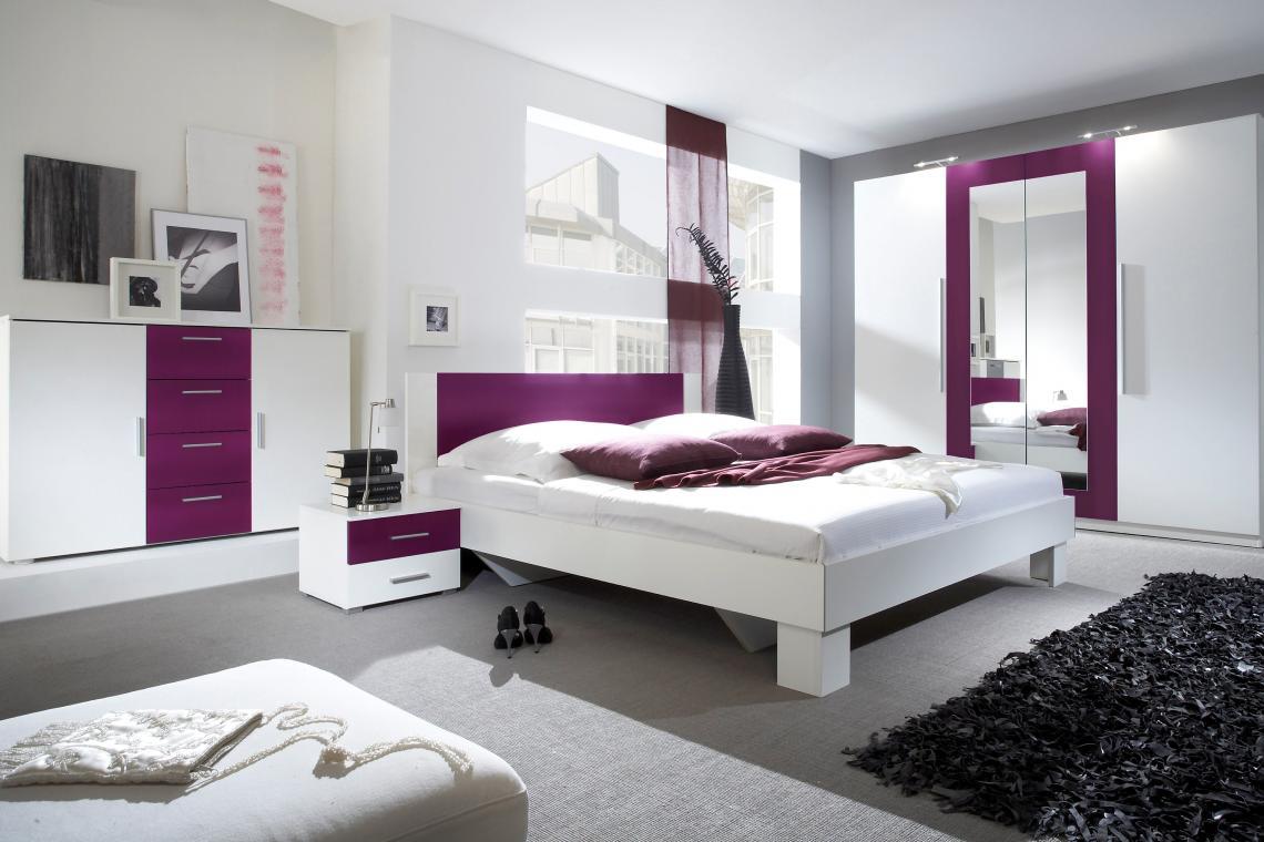 JASMINE zostava do spálne, fialovo-biela