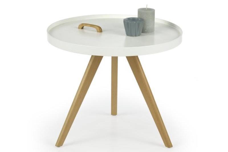 LUKA guľatý konferenčný stolík v škandinávskom štýle