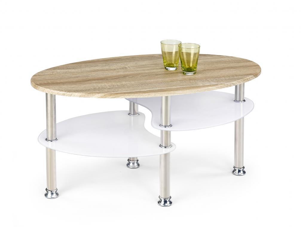 MEDEA oválný konferenční stolek v dekoru dub sonoma