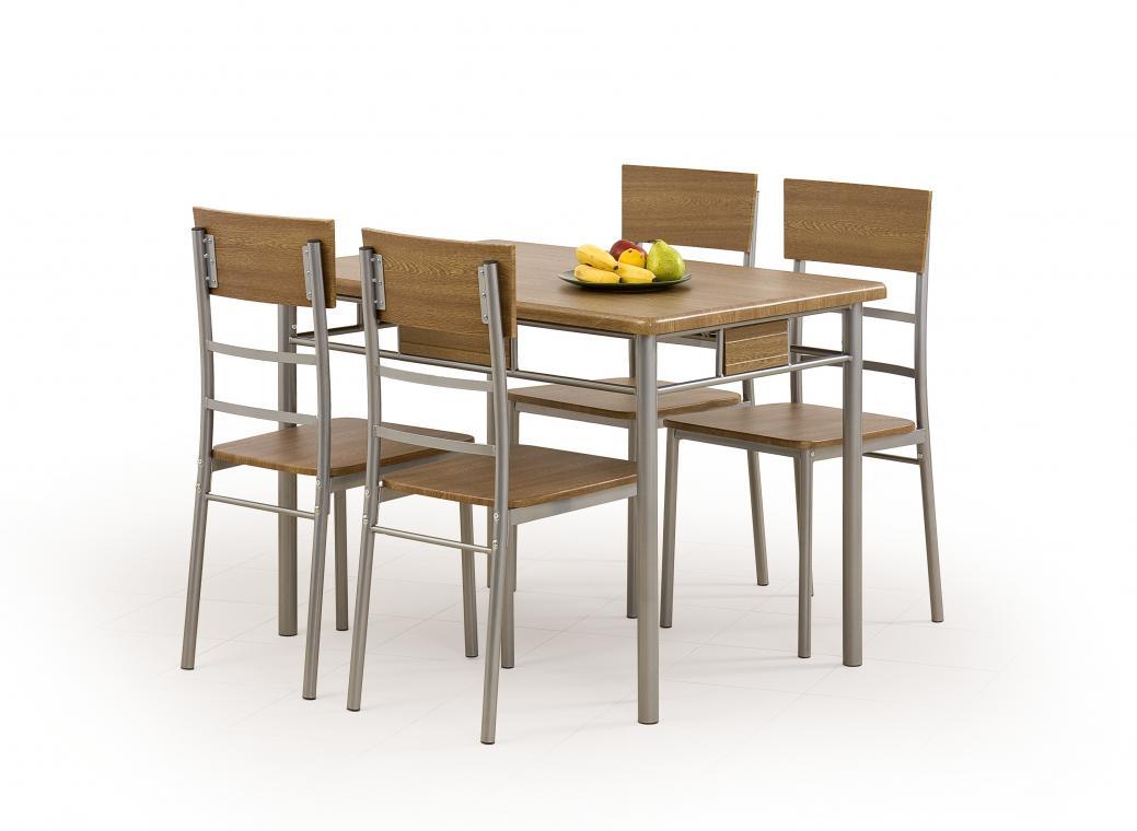 NATAN jedálenská zostava v dekore orech | jedálenský stôl + 4x stoličky