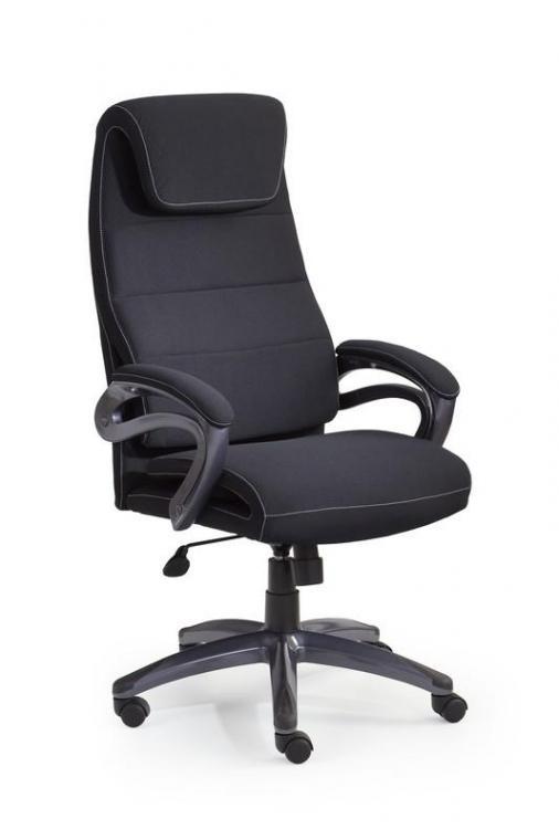 SIDNEY čalúnená kancelárska stolička, čierna