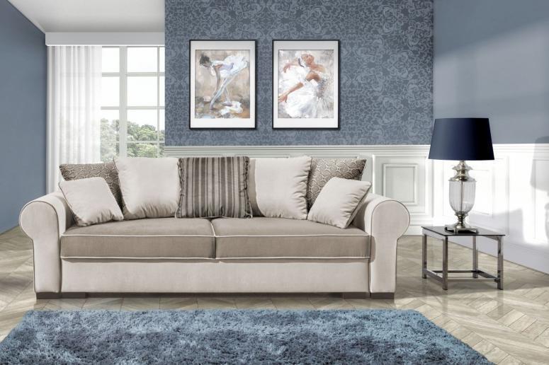 MONTANA DELUXE rozkládací pohovka s úložným prostorem v provensálském stylu