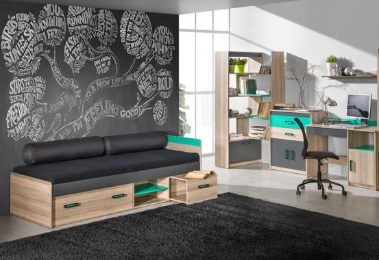 SAMUEL SM7 moderní dětská postel s úložným prostorem