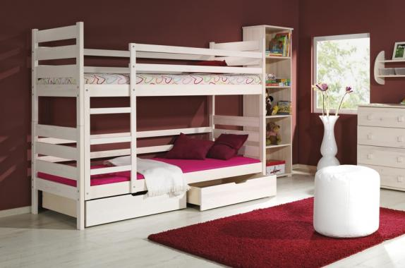 DAREK poschodová posteľ z masívneho dreva