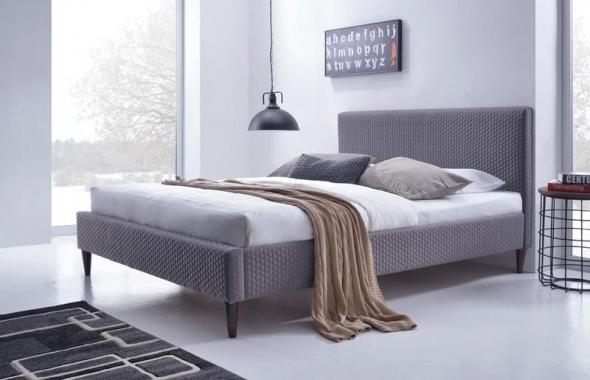 FLEXY čalúnená manželská posteľ 160x200 s roštom