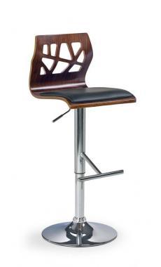 H-34 čierna barová stolička s nastaviteľnou výškou sedenia