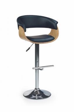 H-45 černá barová židle s nastavitelnou výškou
