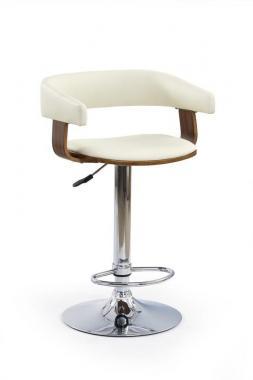 H-12 krémová barová židle s nastavitelnou výškou