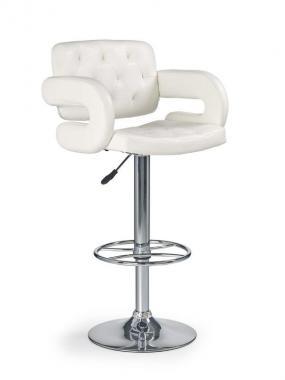 H-37 bílá barová židle s nastavitelnou výškou