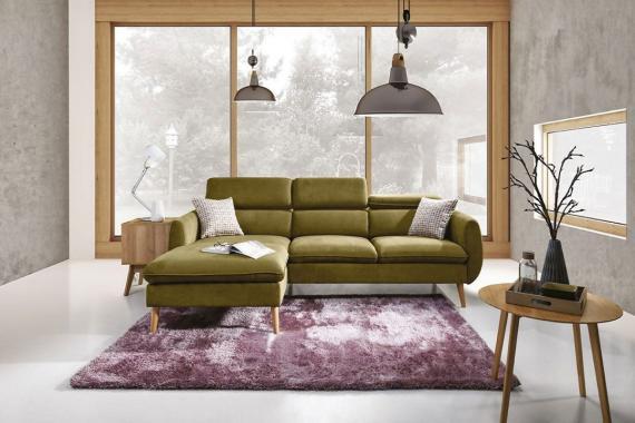 CENTO sedací souprava s nastavitelnými opěrkami ve skandinávském stylu