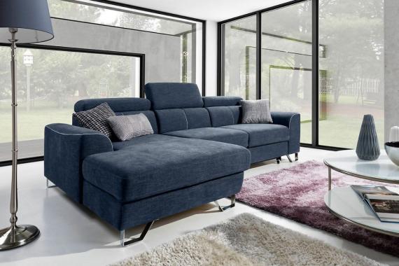 ASTI dizajnová rozkladacia sedačka s úložným priestorom a polohovacími záhlavníky