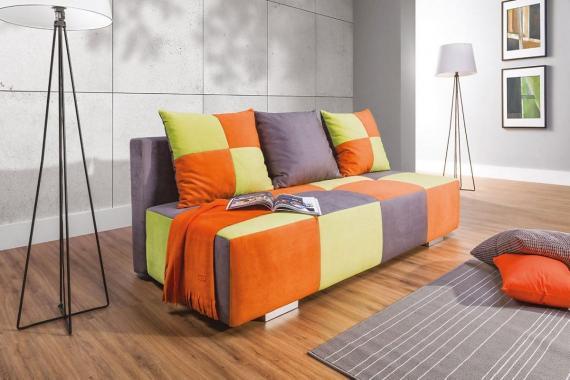 BANDERAS farebná pohovka s rozkladom a úložným priestorom
