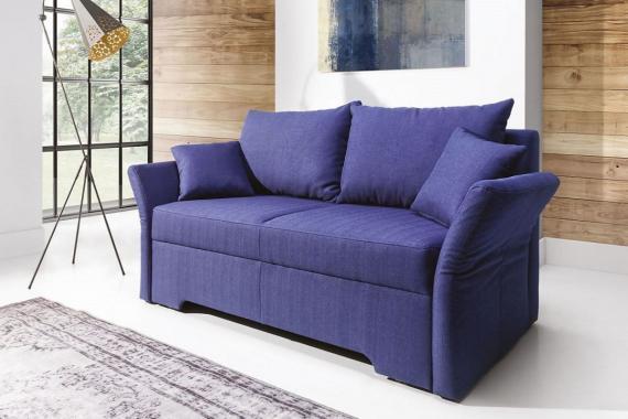 MELFI 2-Sitzer Sofa mit Schlaffunktion, verstellbaren Armlehnen und losen Kissen
