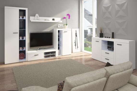 RUMBA obývací stěna, bílá