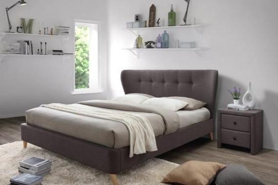 VIENA čalouněná manželská postel 180x200 s roštem