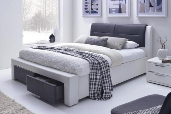 CASSANDRA-S čalúnená manželská posteľ 160x200 s roštom