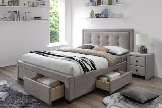 EVORA čalúnená posteľ 160x200 s úložným priestorom