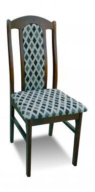 K1 čalouněná jídelní židle z masivního dřeva