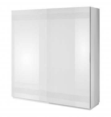 ALABASTER AB-12 veľká biela šatníková skriňa s posuvnými dverami