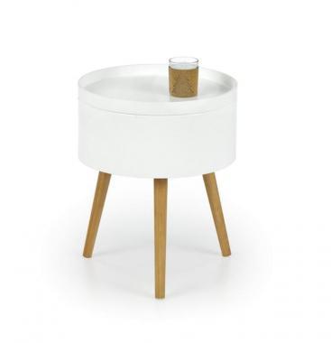 SUPRA kulatý konferenční stolek ve skandinávském stylu