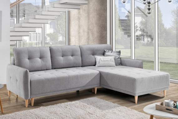 ORWELL rozkládací sedací souprava s úložným prostorem ve skandinávském designu
