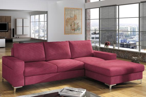 ODETTE elegantní rozkládací sedací souprava s úložným prostorem a širokou lenoškou