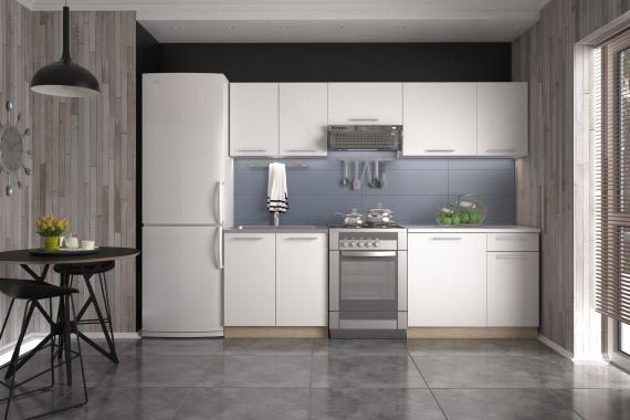 DARIA malá kuchyňská linka v dekoru bílá/dub sonoma