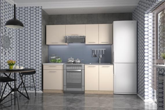 MARIJA malá kuchyňská linka v dekoru vanilka/dub sonoma