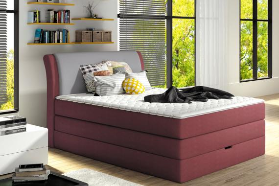 RUBBY jednolôžková posteľ typu boxspring s úložným priestorom