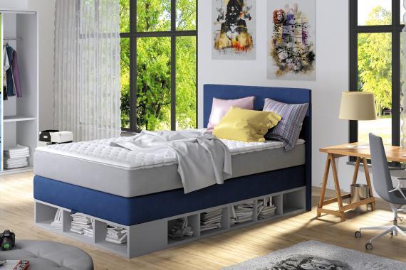 MATIAS kontinentální boxspring postel 120x200