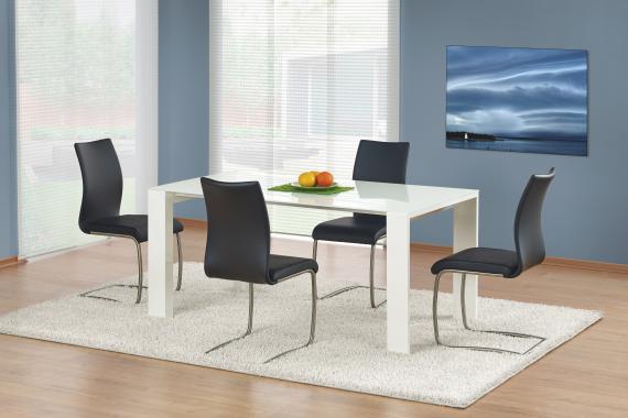 JONAS velký bílý jídelní stůl v moderním designu