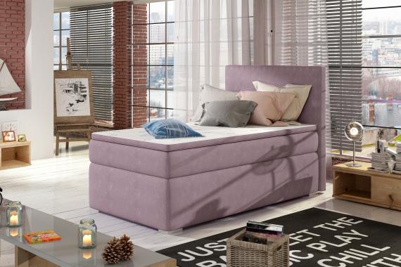 AMADEO boxspring postel 90x200 s úložným prostorem