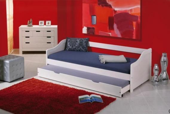 LEONTÝNA detská posteľ s výsuvnou prístelkou