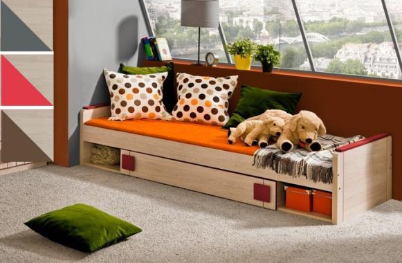 GUMI G13 dětská postel s roštem a úložným prostorem