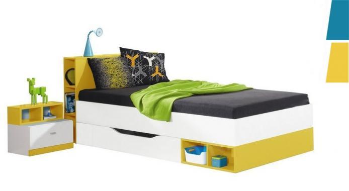 e50b1126b4638 SHINE SH18 moderná detská posteľ s úložným priestorom | 2 dekory