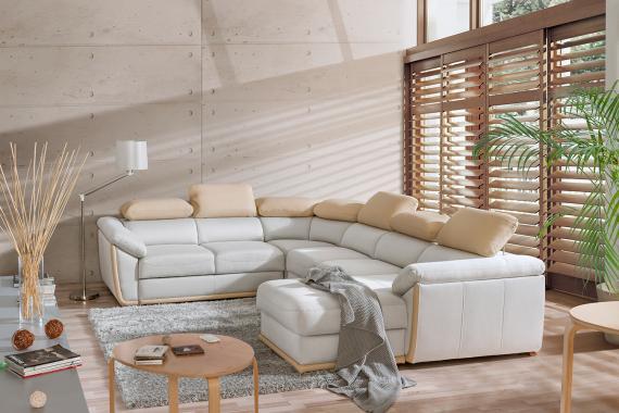 KLEOPATRA U luxusní modulová sedačka ve tvaru U, možnost objednání v pravé kůži