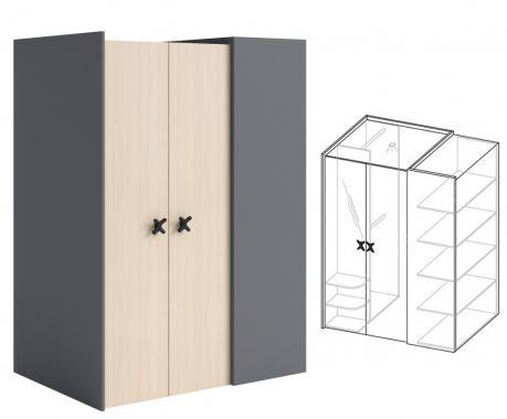 IKS X-01 šatník se zrcadlem a zabudovaným LED osvětlením