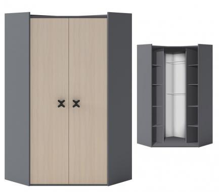 IKS X-02 rohová šatní skříň do dětského pokoje