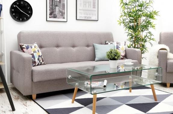 LINEA rozkládací pohovka s úložným prostorem ve skandinávském stylu