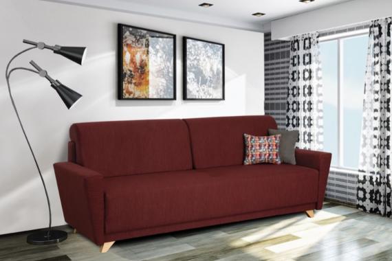 PERRY rozkládací pohovka s úložným prostorem ve skandinávském designu