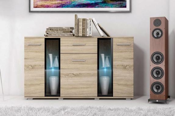 CAROL II komoda v dekore dub sonoma do obývacej izby