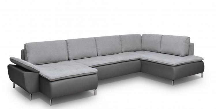 MELVIN U rozkladacia sedačka v tvare U s polohovateľnou opierkou