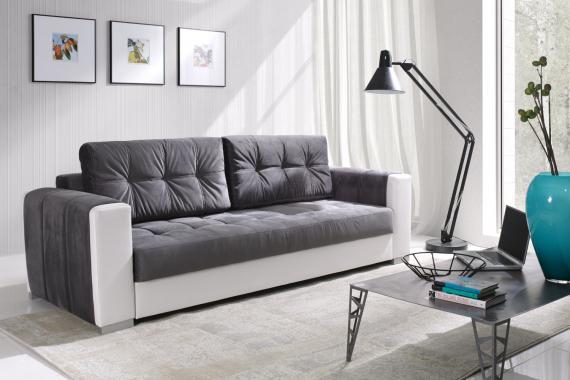 AMANDA 3-Sitzer Sofa mit Schlaffunktion und Stauraum