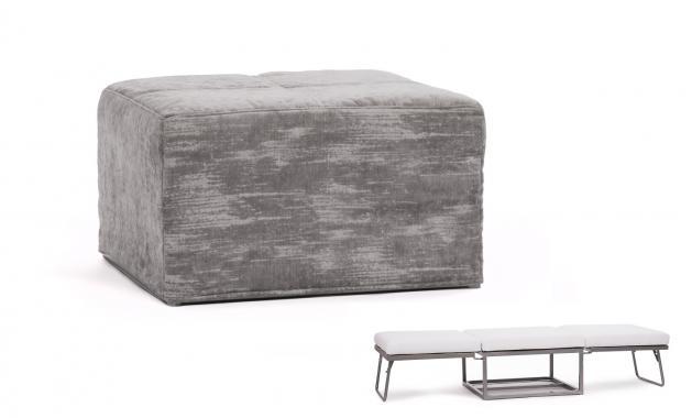 MAIA Hocker und Sitzbank in einem, ausklappbar, Metallkonstruktion